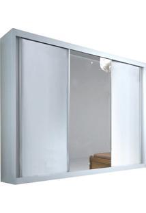 Guarda-Roupa Denver Com Espelho - 3 Portas - 100% Mdf - Branco