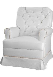 Poltrona Com Balanço Esmeralda Móveis Canaã Branco