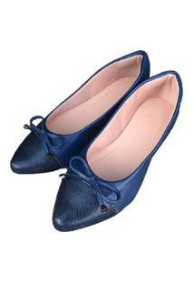 Sapatilha Azul Marinho Bico Fino