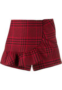 Red Valentino Houndstooth Check Shorts - Vermelho