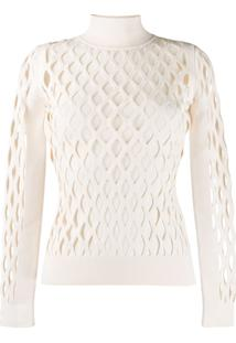 Fendi High Collar Pullover - Neutro