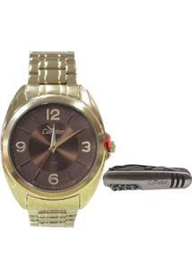 R  299,90. Zattini Relógio Feminino Euro Analógico Eu2036ymf 4p - Unissex- Dourado 50e2c21a9e