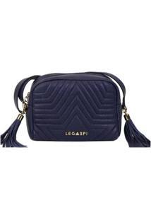 Bolsa Legaspi De Couro Arlequina - Feminino-Azul Escuro