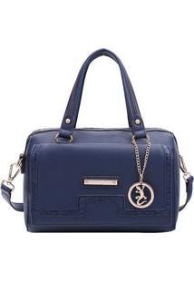Bolsa Ba㺠Com Bag Charm- Azul Marinho & Dourada- 18Xfellipe Krein