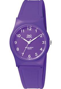 Relógio Qq De Pulso Analógico Vp34J068Y Feminino - Feminino-Roxo