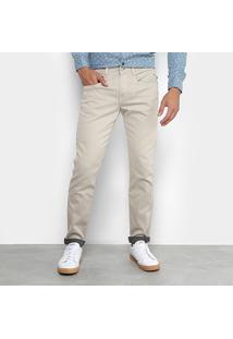 Calça Sarja Replay Skinny Color Anbass Masculina - Masculino-Cáqui