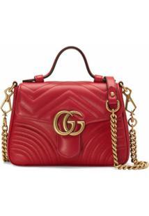 Gucci Bolsa Gg Marmont Mini - Vermelho