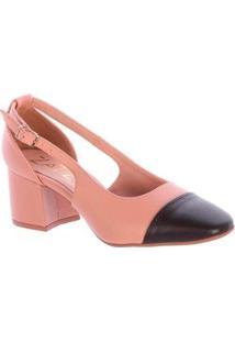 Scarpin Beth Napa Damannu Shoes Feminino - Feminino-Bege