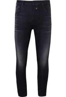 Calça John John Mc Rock Luca 3D Jeans Preto Masculina (Jeans Black Escuro, 38)