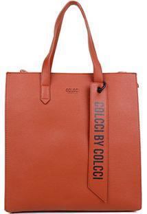 Bolsa Colcci Shopper Charm Feminina - Feminino-Caramelo