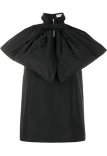 Givenchy Blusa Oversized Com Laço - Preto