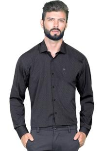 Camisa Hugo Rossi Preta Maquinetado - Masculino