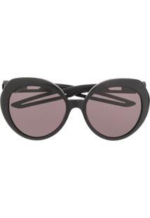 Balenciaga Óculos De Sol Com Formato Borboleta - Preto
