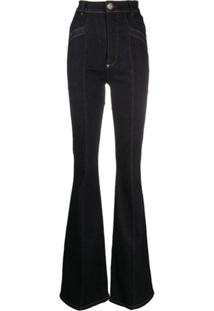 Philipp Plein Calça Jeans Bootcut Cowboy - Azul
