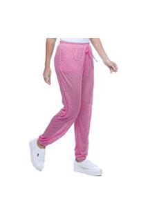 Calça Jogger 101 Resort Wear Pijama Bolsos Cordao Malha Viscose Pink Com Forro