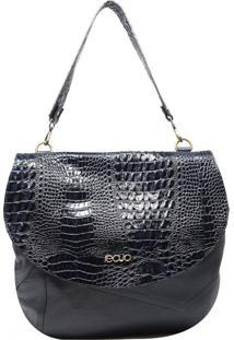 Bolsa De Couro Recuo Fashion Bag Sacola Azul Marinho