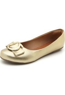 Sapatilha Dafiti Shoes Aplicação Dourada