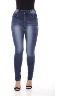 Calça Jeans Prs Jeans Flare Seca Barriga Feminina - Feminino