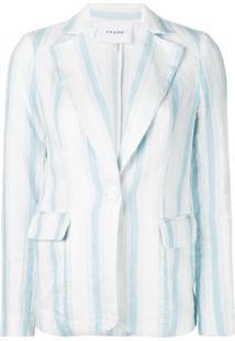 Frame Blazer Listrado - Azul