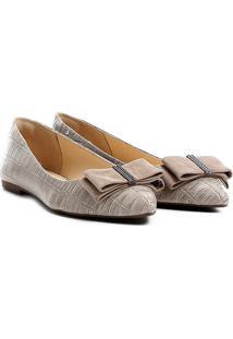 Sapatilha Shoestock Laço - Feminino-Bege