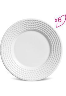 Jogo De Pratos Para Sobremesa OlãMpia- Branco- 6Pã§S