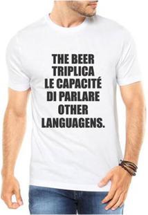 Camiseta Criativa Urbana The Beer Triplica Cerveja Masculina - Masculino