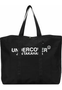 Undercover Bolsa Tote De Nylon Com Estampa De Logo - Preto