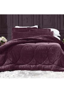 Edredom Solteiro Blend Elegance - Luxury Vermelho Altenburg