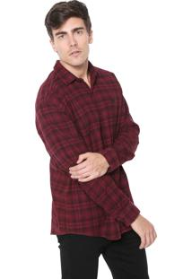 Camiseta Timberland Rugged Check Pomegrana Preta