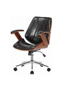 Cadeira Kopenhagen Diretor Preta Acabamento Madeira 98Cm - 62564 Preto