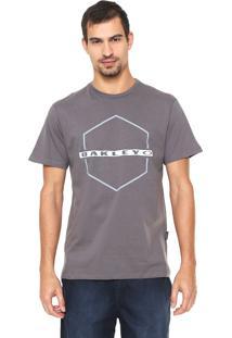 Camiseta Oakley Mod Crossing Hex Tee Cinza
