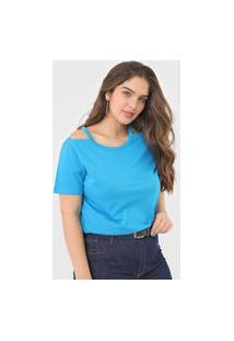 Blusa Forum Off Shoulder Azul