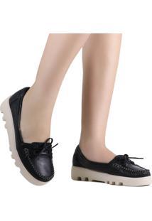 Sapato Zariff Shoes Mocassim Laço Preto