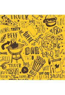 Papel De Parede Adesivo Fast Food (0,58M X 2,50M)