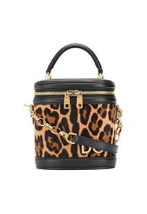 Dolce & Gabbana Bolsa Tote Estruturada Com Animal Print - Preto
