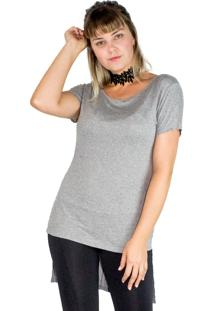 Look Blusa Chocker Tee Mescla + Legging Recortes Modisch - Kanui