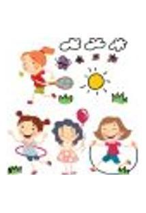 Adesivos De Parede Infantil Meninas Brincando