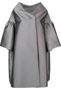 Alberta Ferretti Casaco Oversized - Cinza