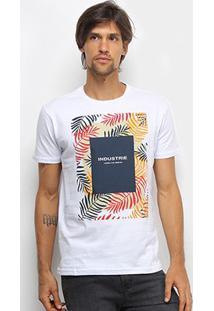 Camiseta Industrie Tropical Manga Curta Masculina - Masculino-Branco