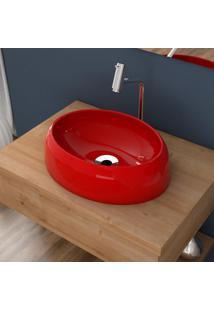 Cuba De Apoio Para Banheiro Compace Capri Ov39W Oval Vermelha