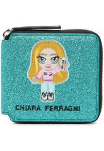 Chiara Ferragni Carteira Com Detalhe De Patch Bordado - Azul