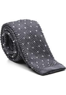 Gravata Key Design - Tricot Point Grey - Masculino