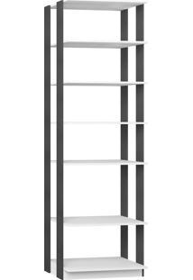 Estante C/ Prateleiras 700 Branco Tx/Expresso Be Mobiliário
