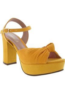 Sandália Gabriela Meia Pata Camurça Amarelo