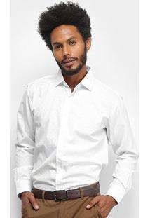 Camisa Social Watkins & Krown Manga Longa Masculina - Masculino-Branco