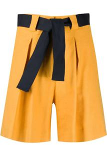 Eleventy Bermuda Com Cinto - Amarelo