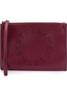 Stella Mccartney Clutch Stella Com Logo - Vermelho