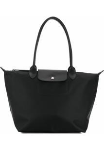 Longchamp Bolsa Tote Le Pliage - Preto