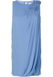 Lanvin Vestido De Seda - Azul