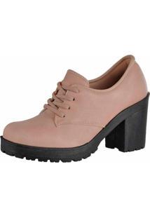 Bota Cano Curto Em Couro Dr Shoes Nude